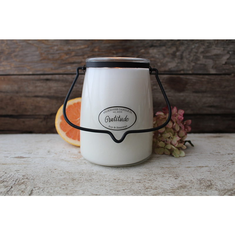 Milkhouse Candle Creamery Gratitude 22 oz  Butter Jar Candle
