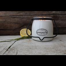 Milkhouse Candle Creamery Milkhouse Candle Creamery Butter Jar 16 oz:  Lemongrass Tea
