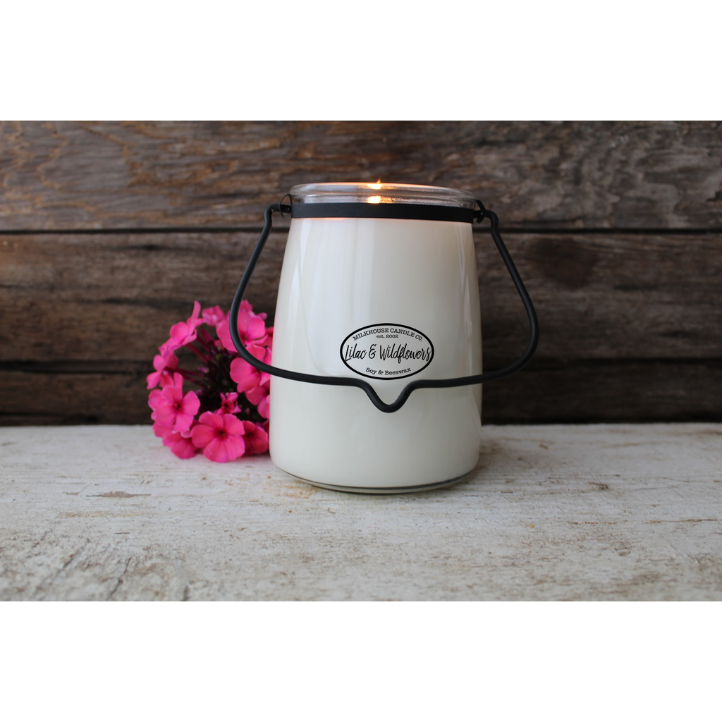 Milkhouse Candle Creamery Milkhouse Candle Creamery Butter Jar 22 oz:  Lilac & Wildflowers