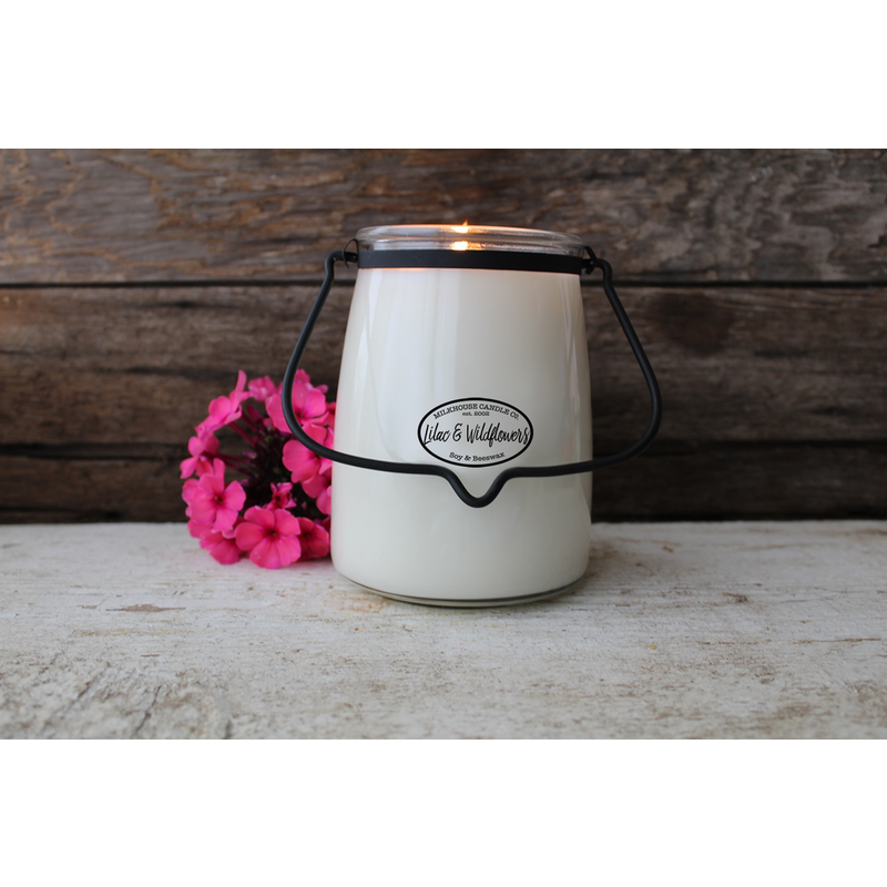 Milkhouse Candle Creamery Lilac & Wildflowers 22 oz  Butter Jar Candle
