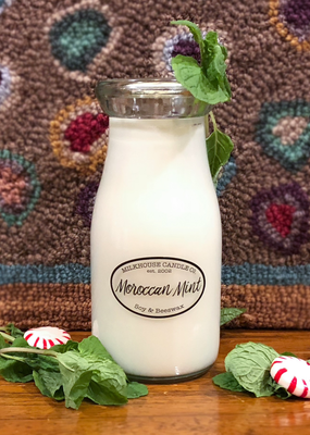 Milkhouse Candle Creamery Milkhouse Candle Creamery Milk Bottle:  Moroccan Mint