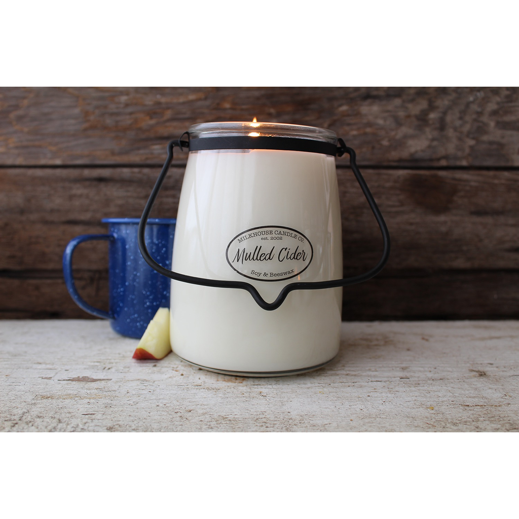 Milkhouse Candle Creamery Milkhouse Candle Creamery Butter Jar 22 oz:  Mulled Cider