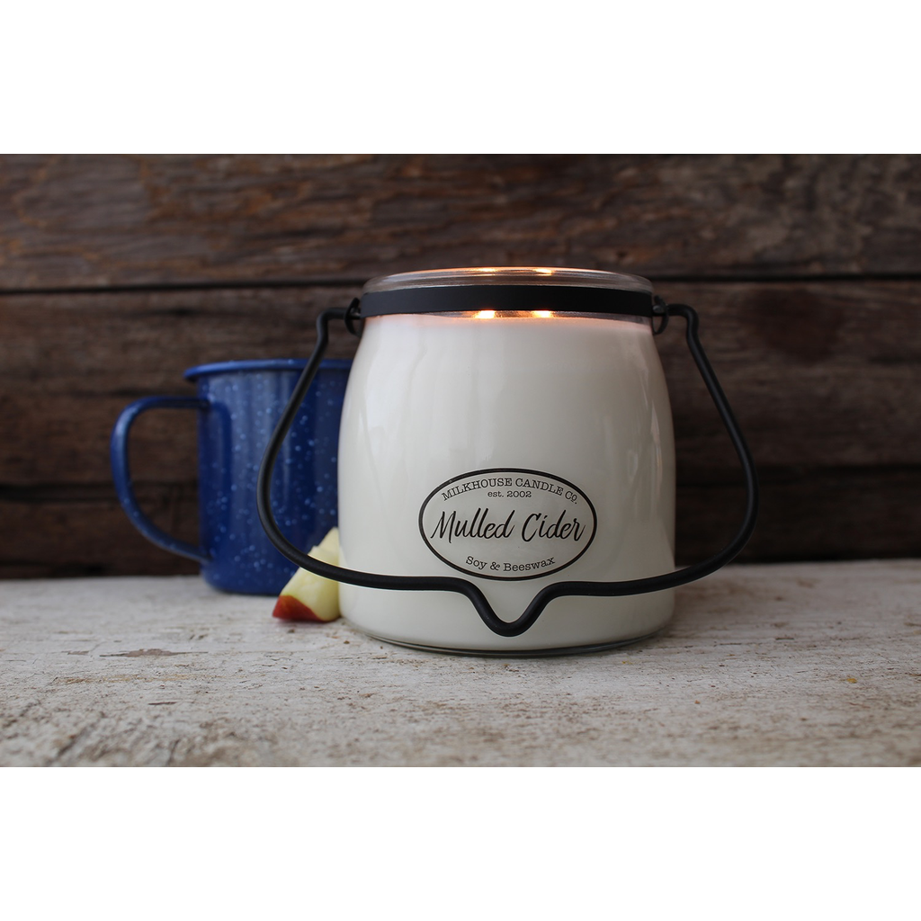 Milkhouse Candle Creamery Milkhouse Candle Creamery Butter Jar 16 oz:  Mulled Cider