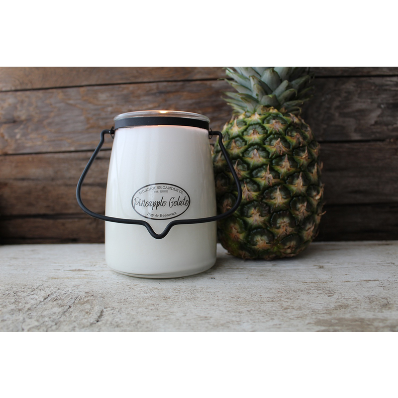 Milkhouse Candle Creamery Pineapple Gelato 22 oz Butter Jar Candle