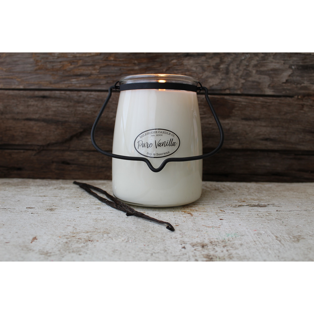 Milkhouse Candle Creamery Milkhouse Candle Creamery Butter Jar 22 oz:  Pure Vanilla