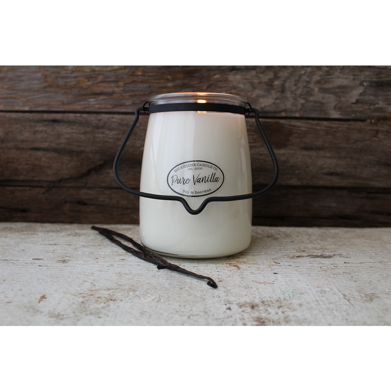 Milkhouse Candle Creamery Pure Vanilla 22 oz  Butter Jar Candle