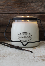 Milkhouse Candle Creamery Milkhouse Candle Creamery Butter Jar 16 oz:  Pure Vanilla