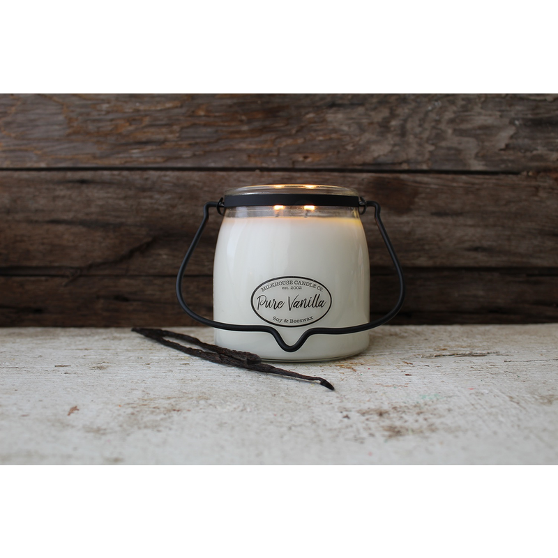 Milkhouse Candle Creamery Pure Vanilla 16 oz  Butter Jar Candle