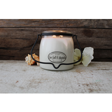 Milkhouse Candle Creamery Milkhouse Candle Creamery Butter Jar 16 oz:  Sea Salt & Magnolia