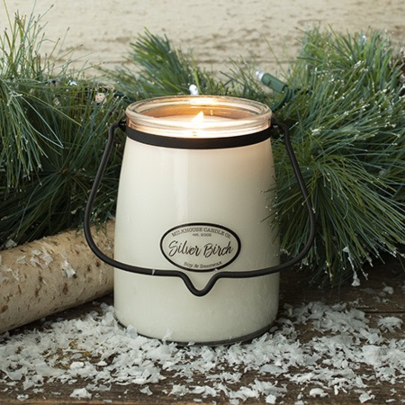 Milkhouse Candle Creamery Silver Birch 22 oz  Butter Jar Candle