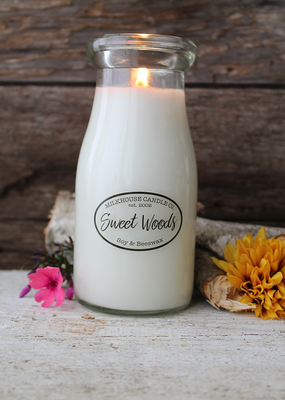 Milkhouse Candle Creamery Milkhouse Candle Creamery Milk Bottle:  Sweet Woods