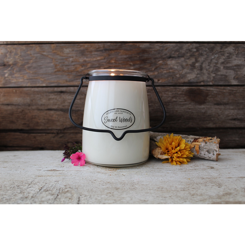 Milkhouse Candle Creamery Sweet Woods 22 oz Butter Jar Candle