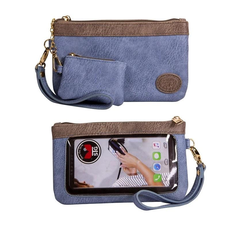 Save the Girls Catchy Clutch/Shasta Blue