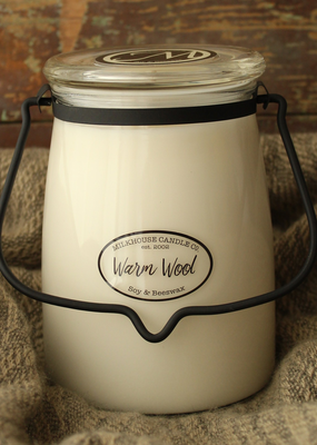 Milkhouse Candle Creamery Milkhouse Candle Creamery Butter Jar 22 oz:  Warm Wool