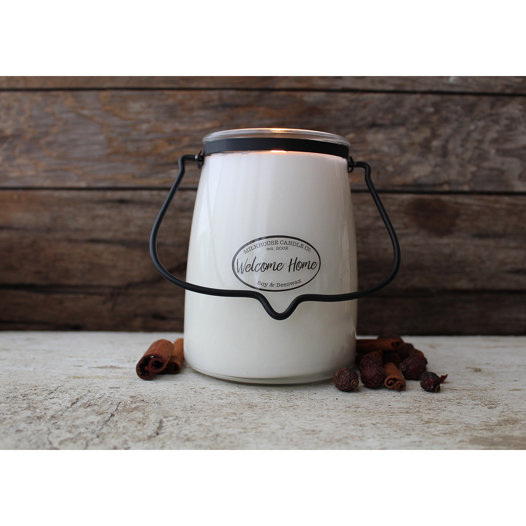 Milkhouse Candle Creamery Milkhouse Candle Creamery Butter Jar 22 oz:  Welcome Home