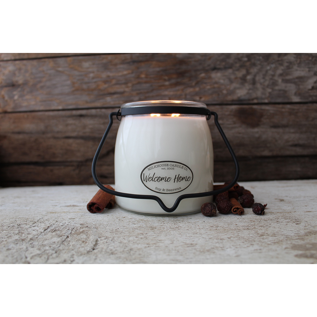 Milkhouse Candle Creamery Milkhouse Candle Creamery Butter Jar 16 oz:  Welcome Home