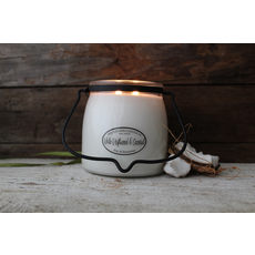Milkhouse Candle Creamery Milkhouse Candle Creamery Butter Jar 16 oz:  White Driftwood & Coconut
