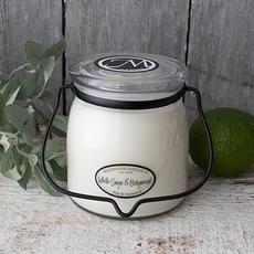 Milkhouse Candle Creamery Milkhouse Candle Creamery Butter Jar 16 oz:  White Sage & Bergamot