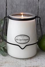Milkhouse Candle Creamery Milkhouse Candle Creamery Butter Jar 22 oz: White Sage & Bergamot