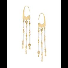 Kendra Scott Kendra Scott Corza Earrings in Gold Smoky Mix