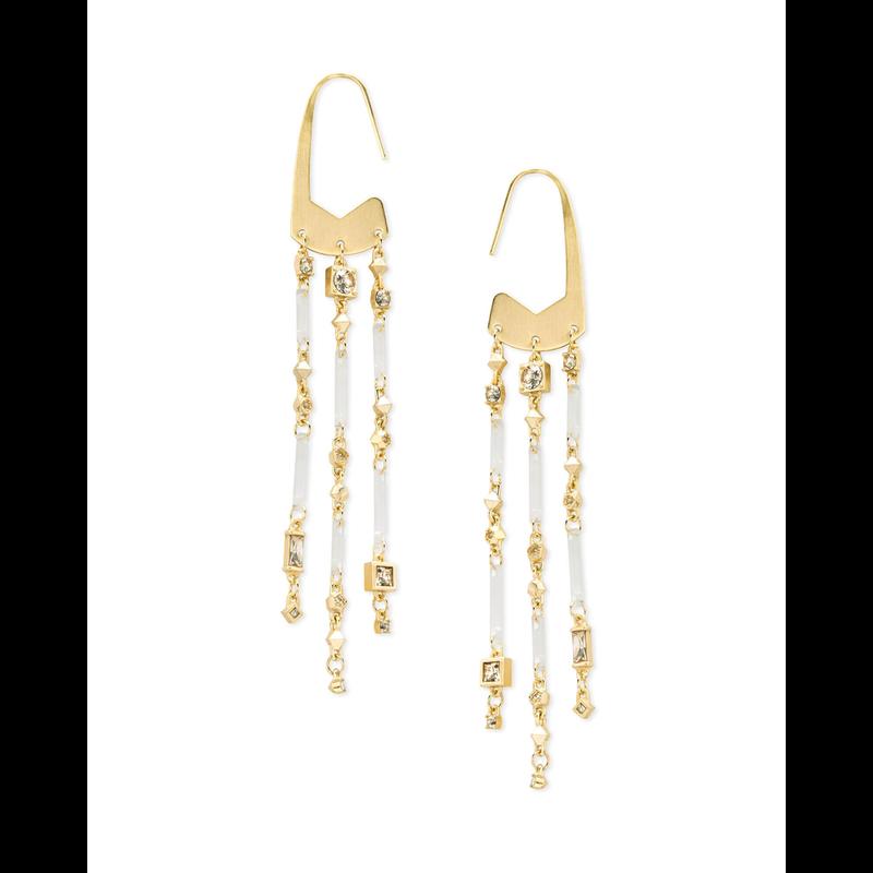 Kendra Scott Corza Earrings in  Gold Smoky Mix