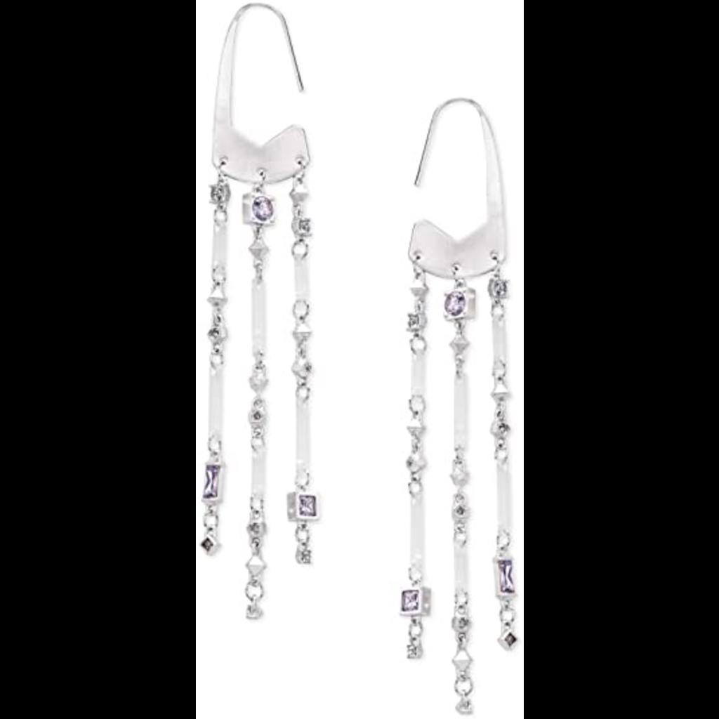 Kendra Scott Kendra Scott Corza Earrings in Silver Lilac Mix