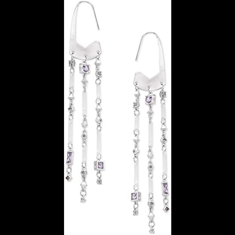 Kendra Scott Corza Earrings in Silver  Lilac Mix
