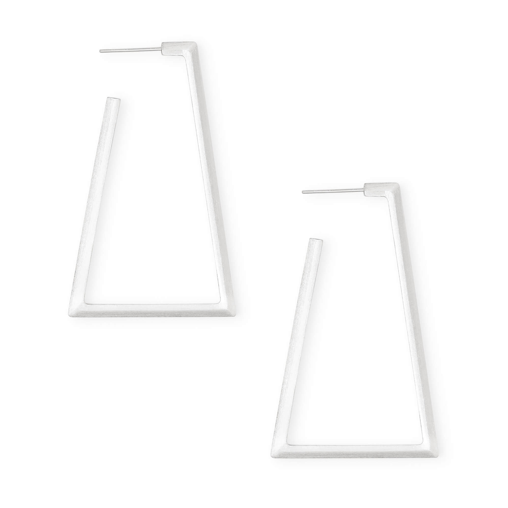 Kendra Scott Kendra Scott Easton Hoop Earrings in Bright Silver