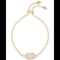 Kendra Scott Kendra Scott Elaina Adjustable Bracelet in Gold  Iridescent Drusy