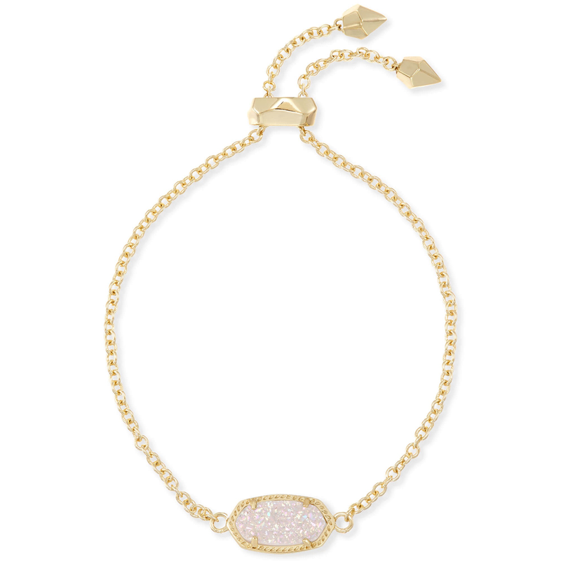 Kendra Scott Elaina Adjustable Bracelet in Gold Iridescent Drusy