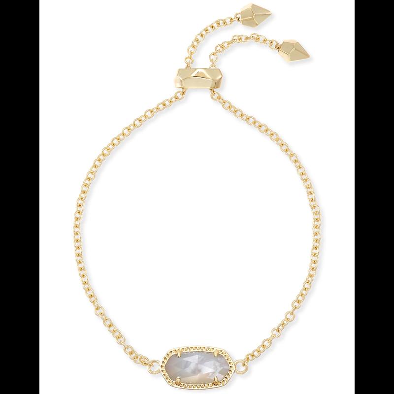 Kendra Scott Elaina Adjustable Bracelet in Gold Ivory Mother of Pearl