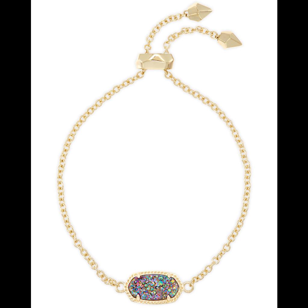 Kendra Scott Kendra Scot Elaina Adjustable Bracelet in Gold Multi Drusy