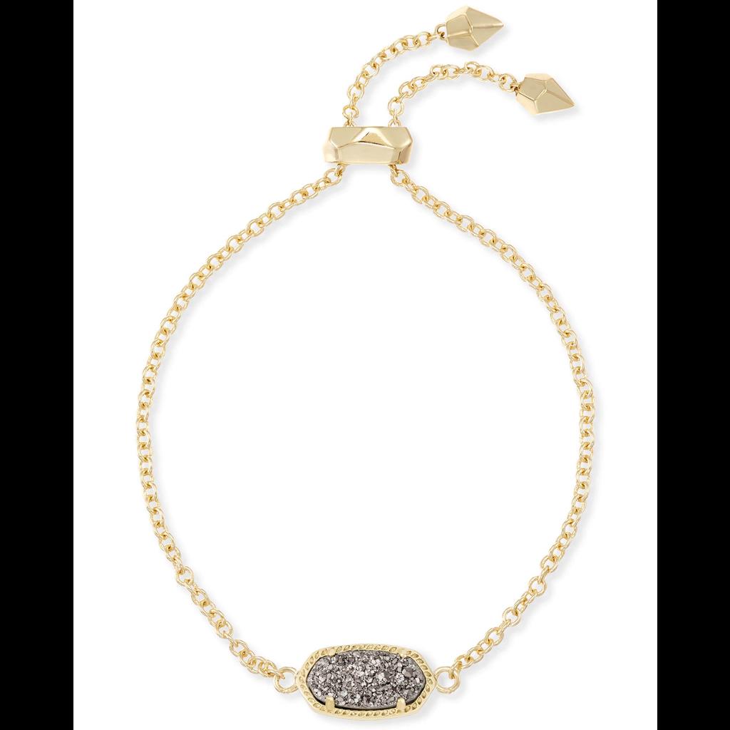 Kendra Scott Kendra Scott Elaina Adjustable Bracelet in Gold Platinum Drusy