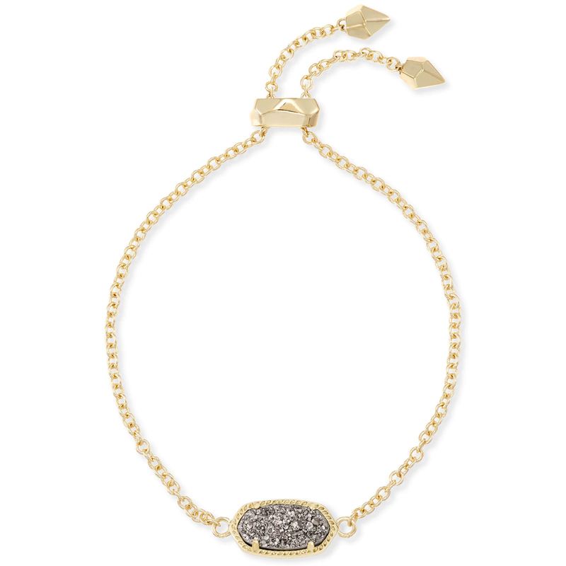 Kendra Scott Elaina Adjustable Bracelet in Gold Platinum Drusy
