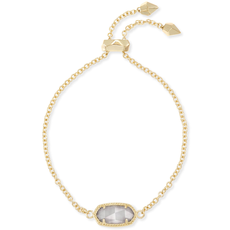 Kendra Scott Kendra Scott Elaina Adjustable Bracelet in Gold & Slate Cat's Eye