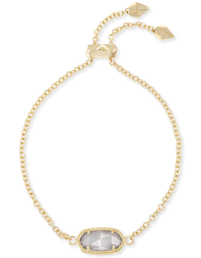 Kendra Scott Elaina Gold & Slate Cat's Eye Bracelet