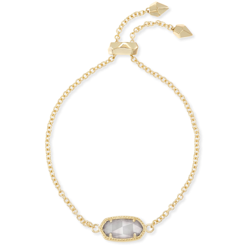 Kendra Scott Elaina Adjustable Bracelet in Gold & Slate Cat's Eye