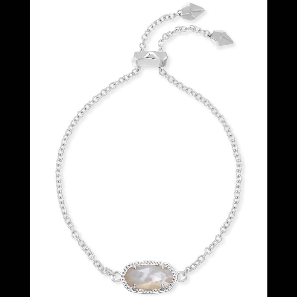 Kendra Scott Kendra Scott Elaina Adjustable Bracelet in Silver & Ivory Mother of Pearl