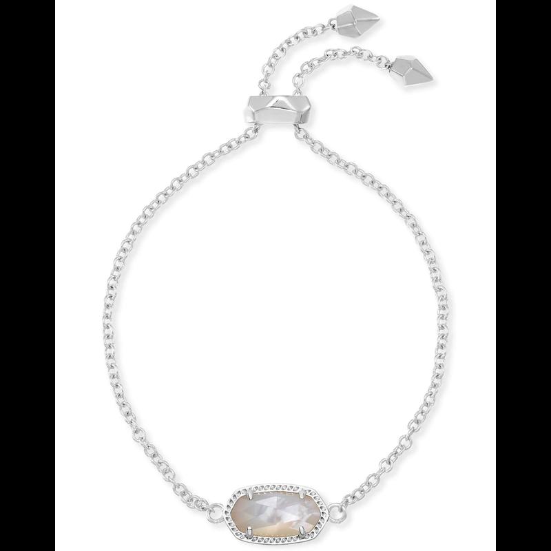 Kendra Scott Elaina Adjustable Bracelet in Silver & Ivory Mother of Pearl