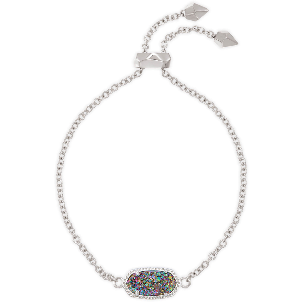 Kendra Scott Kendra Scott Elaina Adjustable Bracelet in Silver Multi Drusy
