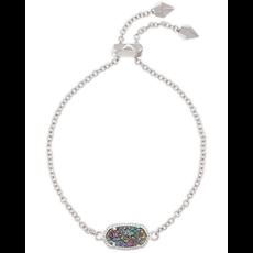 Kendra Scott Kendra Scott Elaina Adjustable Bracelet in Silver Multi Drusy