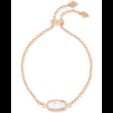 Kendra Scott Kendra Scott Elaina Adjustable Bracelet in Rose Gold Ivory Mother of Pearl
