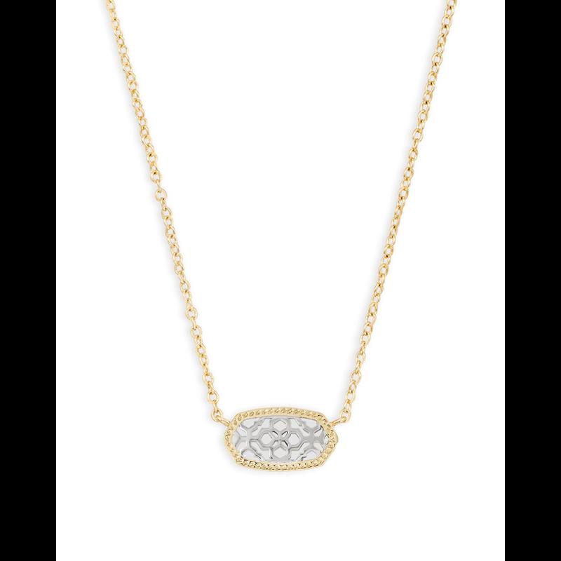 Kendra Scott Elisa Necklace in Gold & Silver Filigree