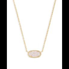 Kendra Scott Kendra Scott Elisa Necklace in Gold Iridescent Drusy