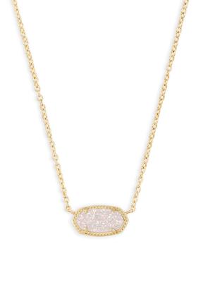Kendra Scott Kendra Scott Gold Iridescent Drusy Necklace
