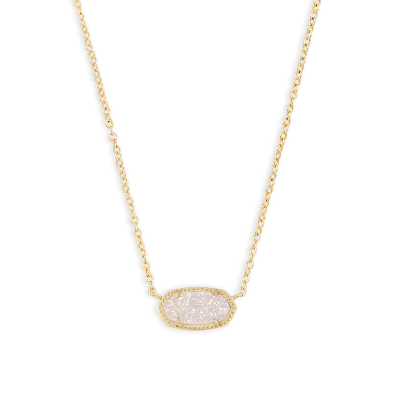 Kendra Scott Elisa Necklace in Gold Iridescent Drusy