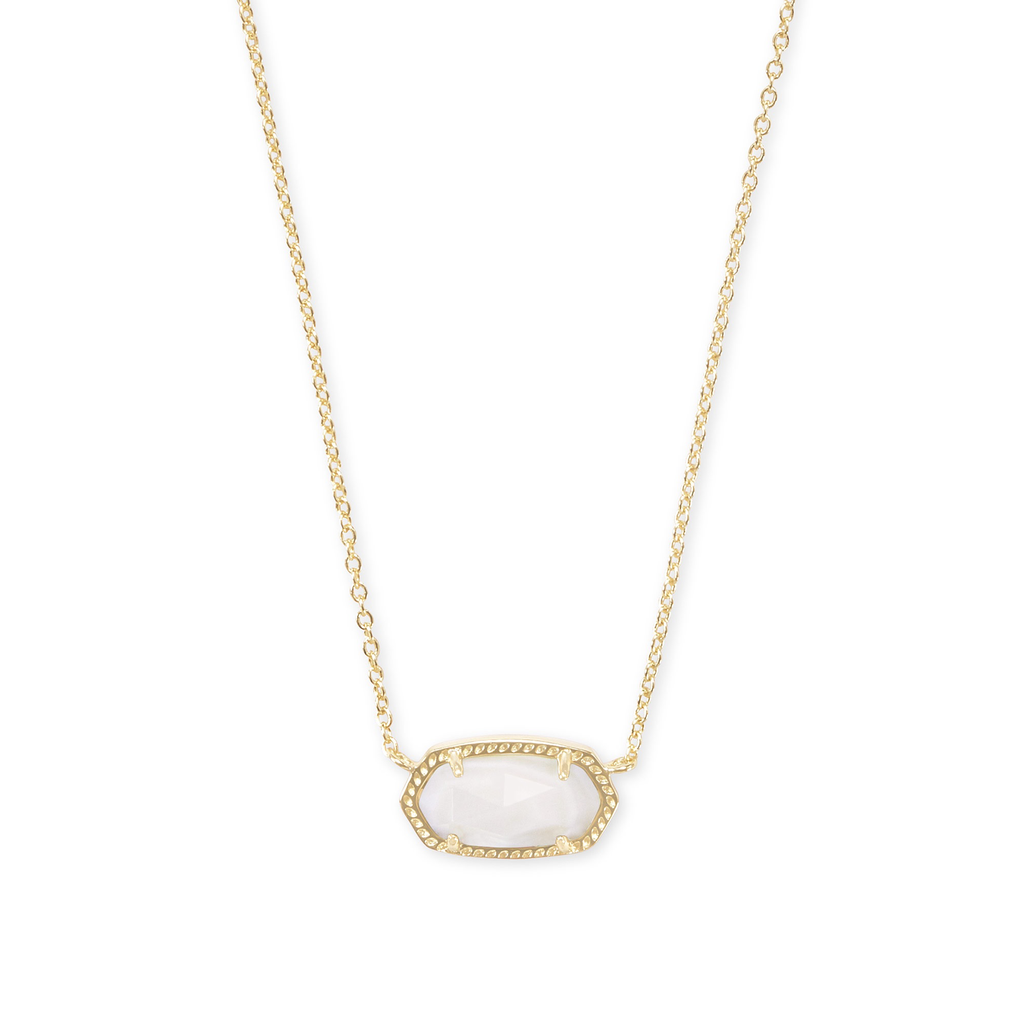 Kendra Scott Kendra Scott Elisa Necklace in Gold Ivory Mother of Pearl