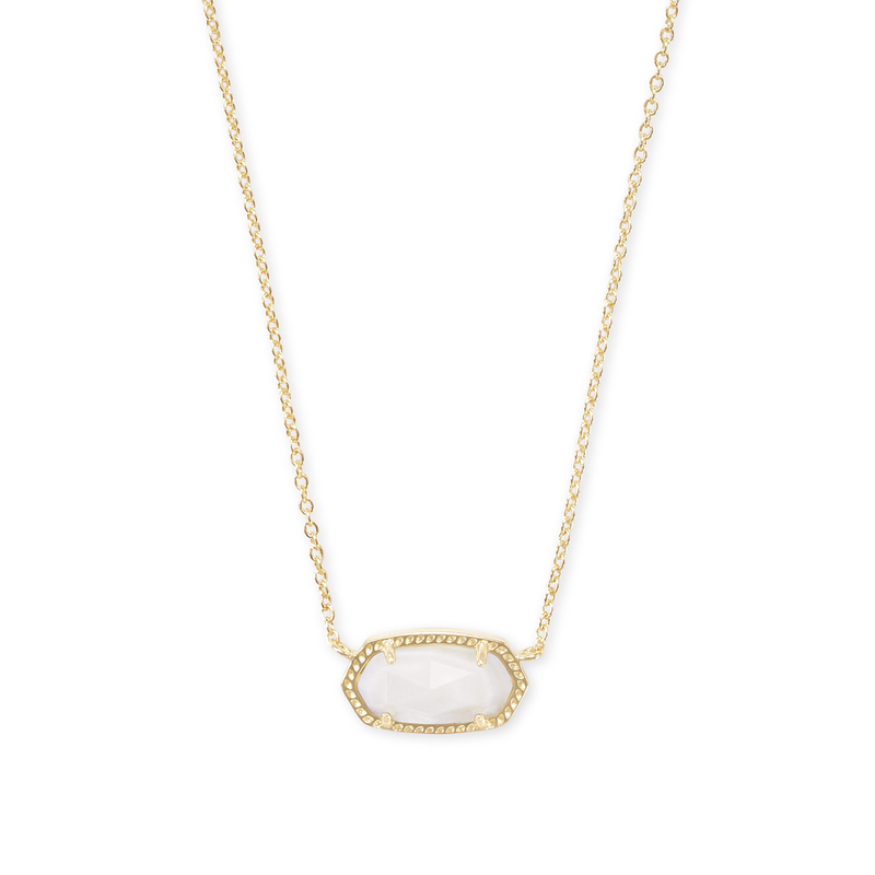 Kendra Scott Elisa Necklace in Gold Ivory Mother of Pearl