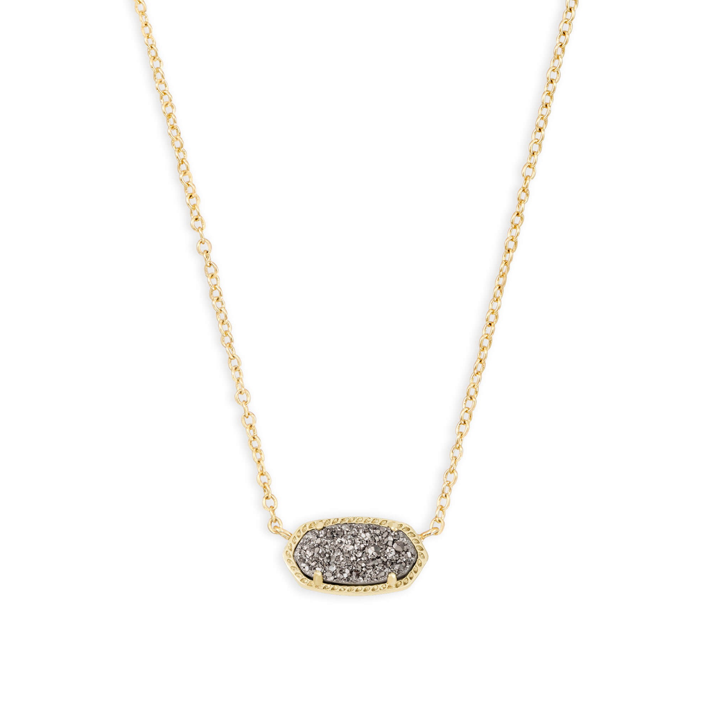 Kendra Scott Kendra Scott Elisa Necklace in Gold Platinum Drusy