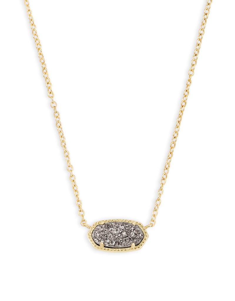 Kendra Scott Kendra Scott Gold Platinum Drusy Necklace